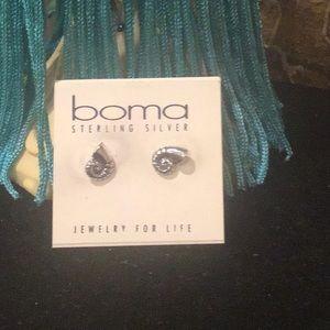 Boma Girls sterling silver stud earrings